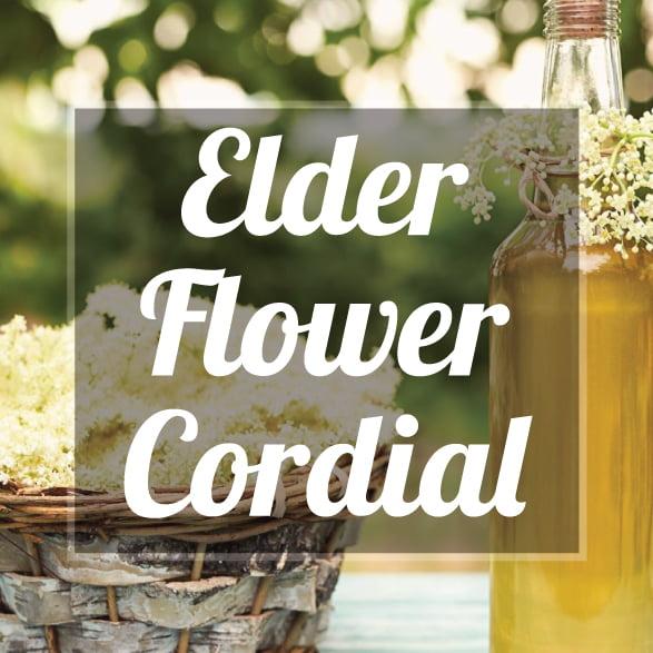 Elderflower cordial making